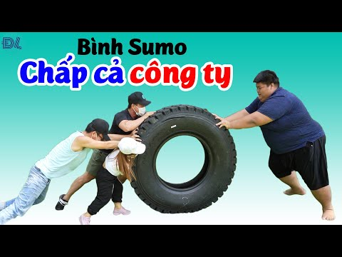 Bình Sumo chấp cả công ty thi đẩy lốp xe II ĐỘC LẠ BÌNH DƯƠNG