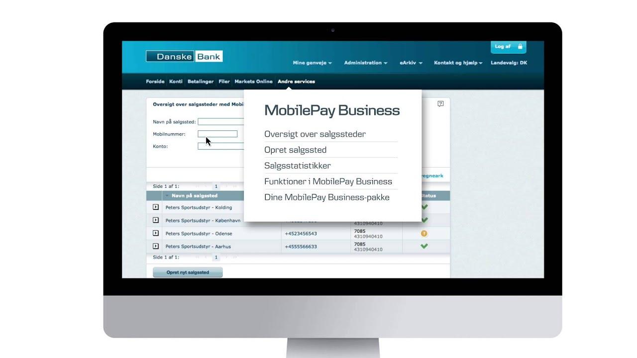 danske bank mobilepay business