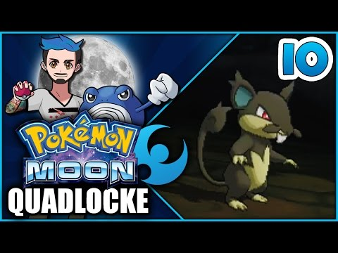 Pokémon Moon Quadlocke Part 10 | SEAWARD DETOUR