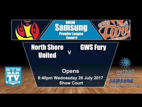 2017 Samsung Premier League Round 9 Opens - North Shore United v GWS Fury (Show Court)