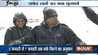 Fresh Snowfall In The Upper Reaches Of Kashmir, Including The Tourist Resort Of Gulmarg