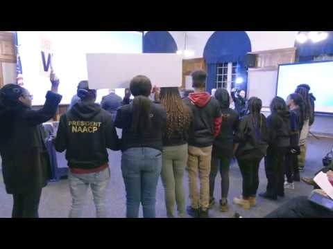 Board Of Education Swearing-In With Protest Demonstration