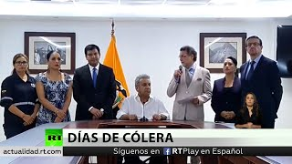Presidente de Ecuador decreta 'toque de queda' en