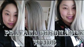 How Blonde Silver Hair Pravana Chromasilk Vivids Silver First Impressions
