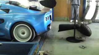 LOTUS HONDA K20 EXIGE RACE CAR ON DYNO FLAMING EXHAUST PIPE