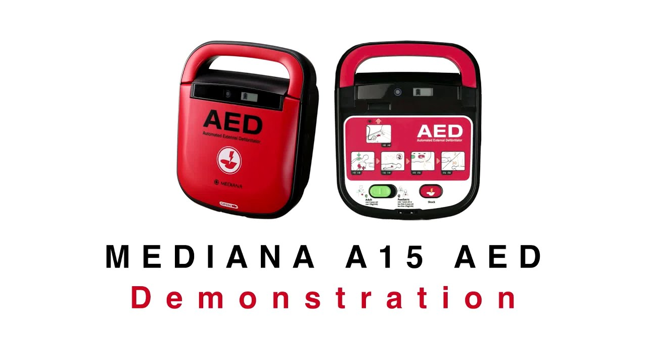Mediana A15 Adult/Child Defibrillator Package & FREE Cabinet