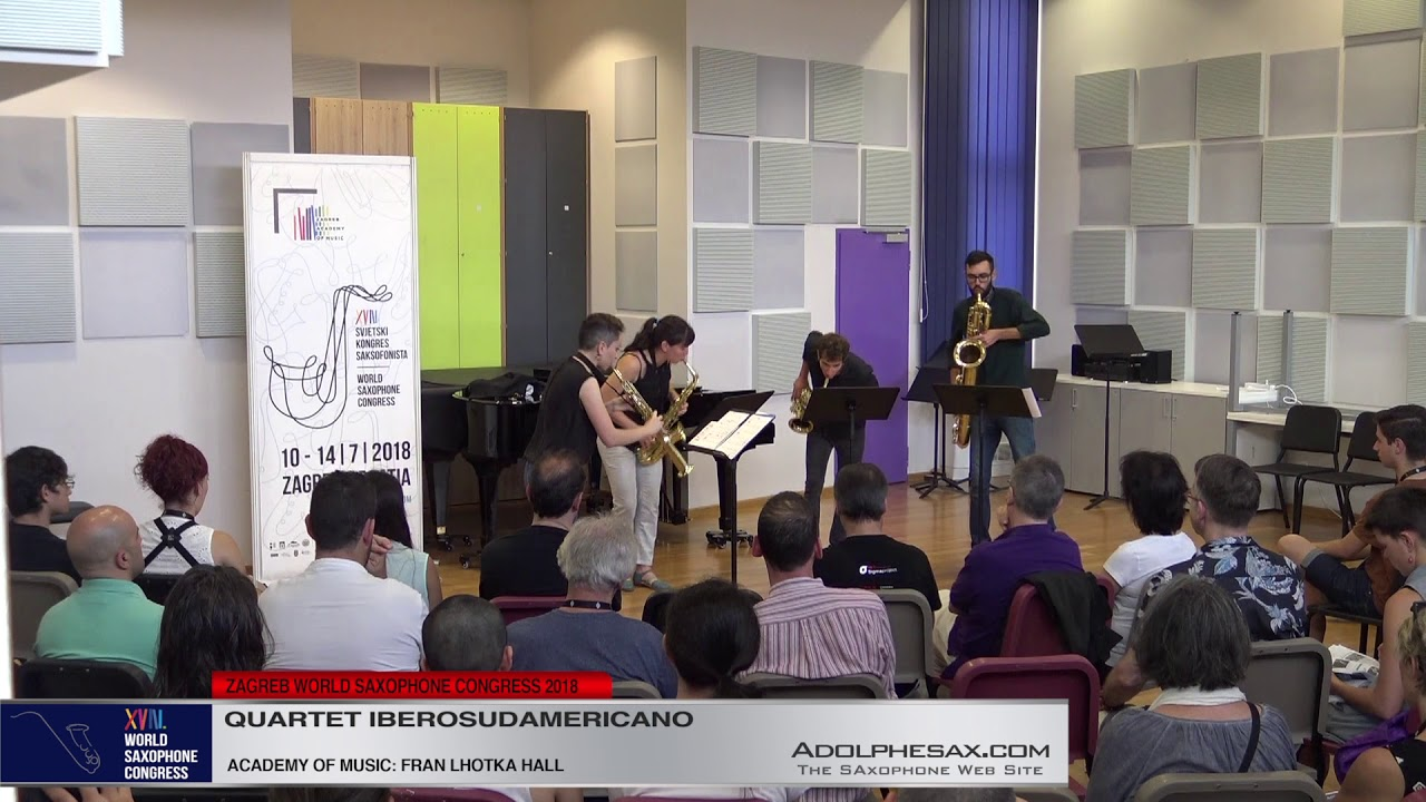Drops by Stylianos Dimou   Cuarteto Iberosudamericano   XVIII World Sax Congress 2018 #adolphesax