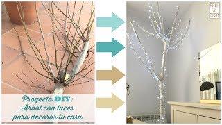 Gambar cover Proyecto DIY: Árbol blanco con luces