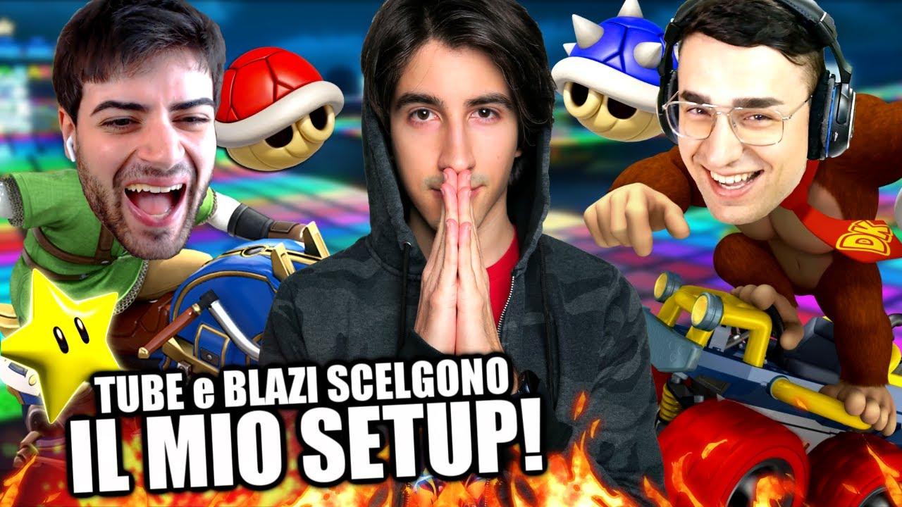 TUBERANZA e BLAZIKEN scelgono il MIO SETUP ma IMBROGLIO ? Mario Kart 8 Deluxe Gameplay ITA