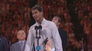 Repeat youtube video Rafa Nadal's post-final speech - 2014 Australian Open