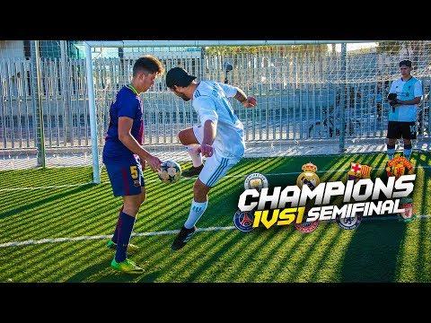 CHAMPIONS 1vs1 | SEMIFINAL VUELTA | Retos de fútbol [Crazy Crew]