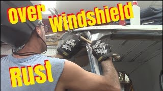 Repair rust above windshield chevy c10