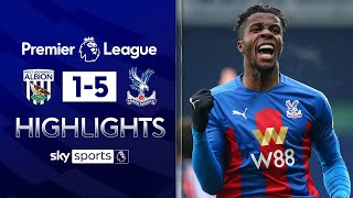 Zaha dazzles after Pereira red card   West Brom 1-5 Crystal Palace   Premier League Highlights