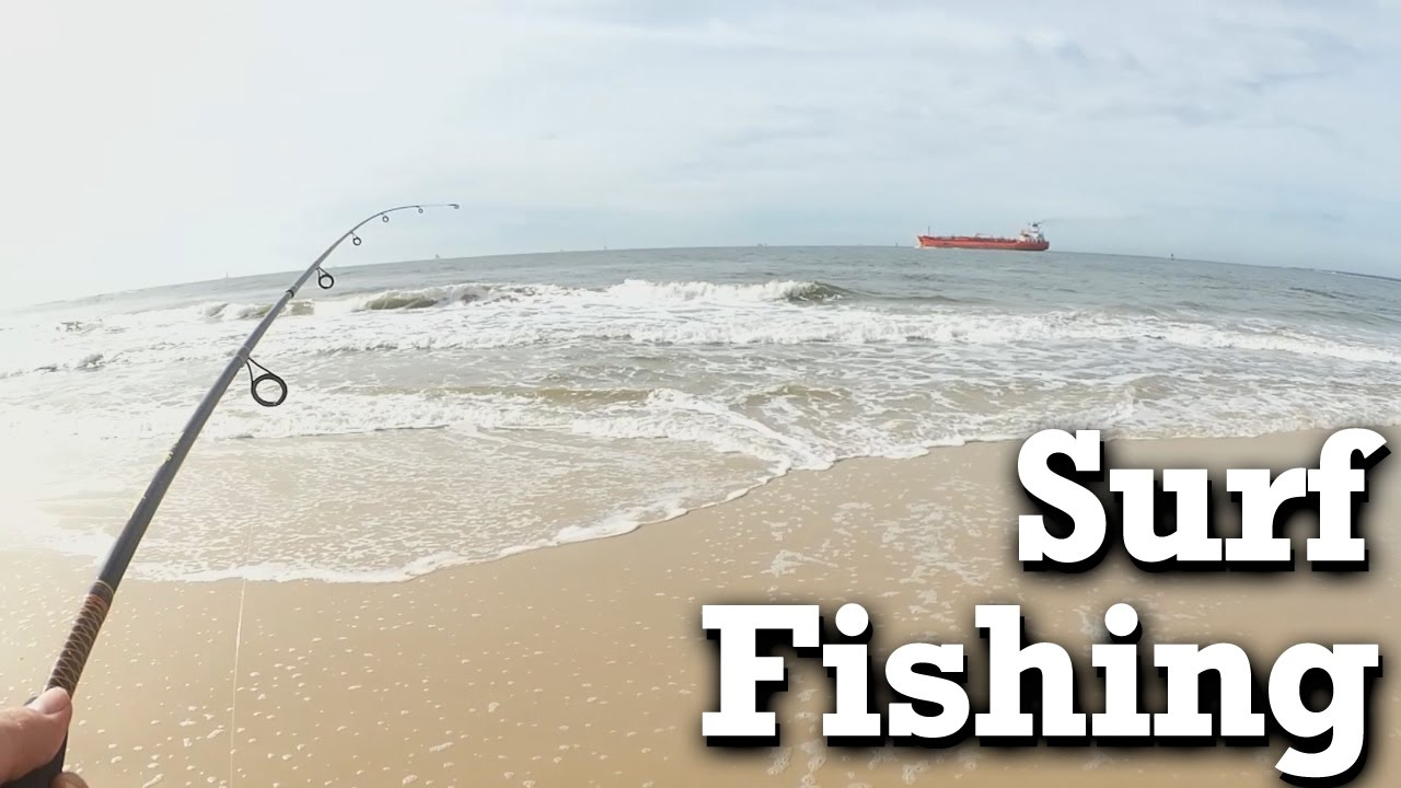 Beginner surf fishing winter fishing at the beach with for Surf fishing at night