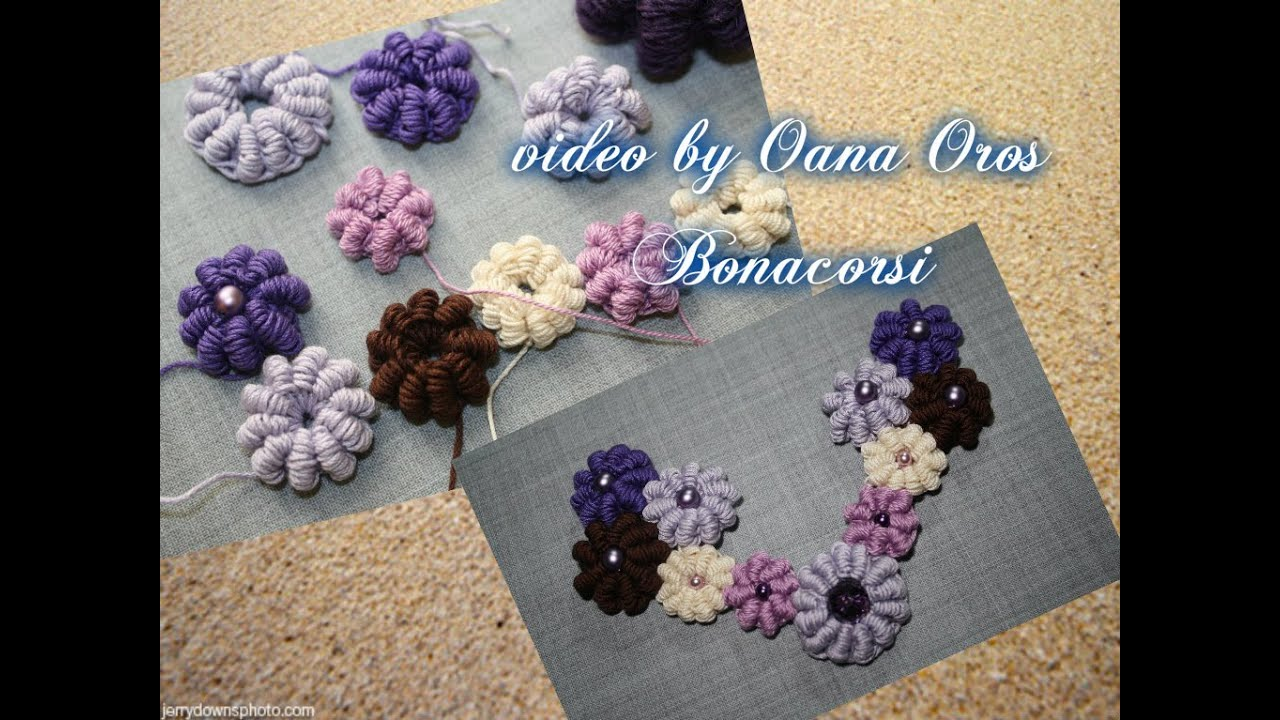 Crochet Bullion Stitch Grape Bead Youtube