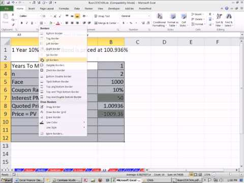 Excel Finance Class 49: Bond Quoted Price & Yield To Market