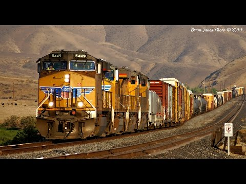 HD: UNION PACIFIC FREIGHT TRAINS - Massive Compilation!