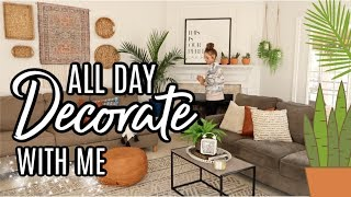 ALL DAY DECORATE WITH ME | CLEAN AND DECORATE WITH ME | SPRING 2020 DECORATE WITH ME