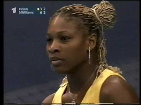 Serena Williams vs Justine Henin - 2001 WTA Tour Championships QF Highlights