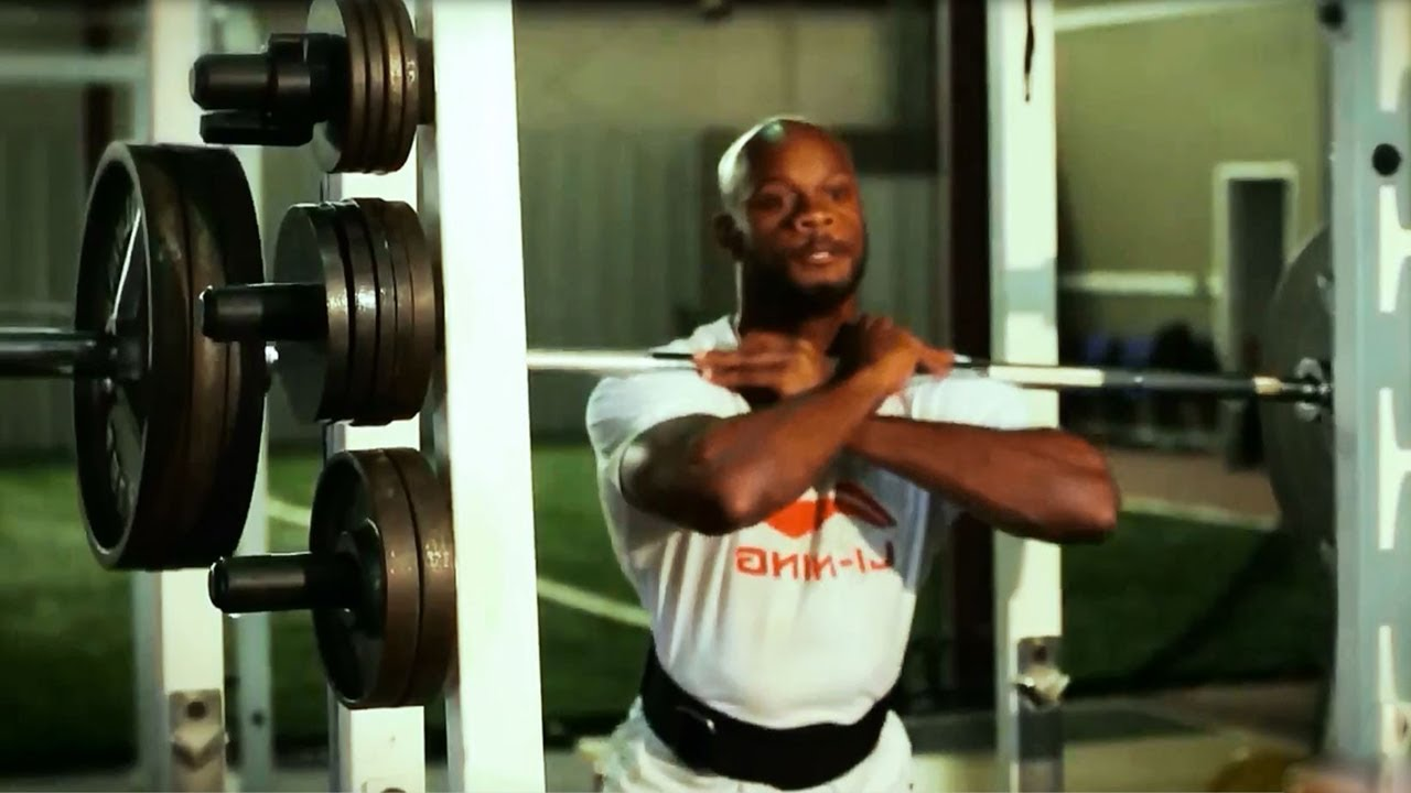 Elite Sprinters Weight Training Asafa Powell Track And