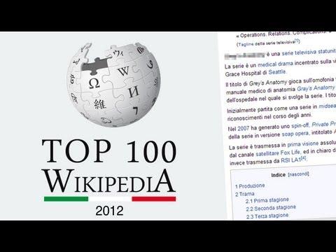 Le 100 parole più cercate su Wikipedia Italiano nel 2012