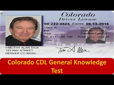 Colorado CDL General Knowledge Test