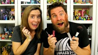Husband Does Wifes Makeup Challenge