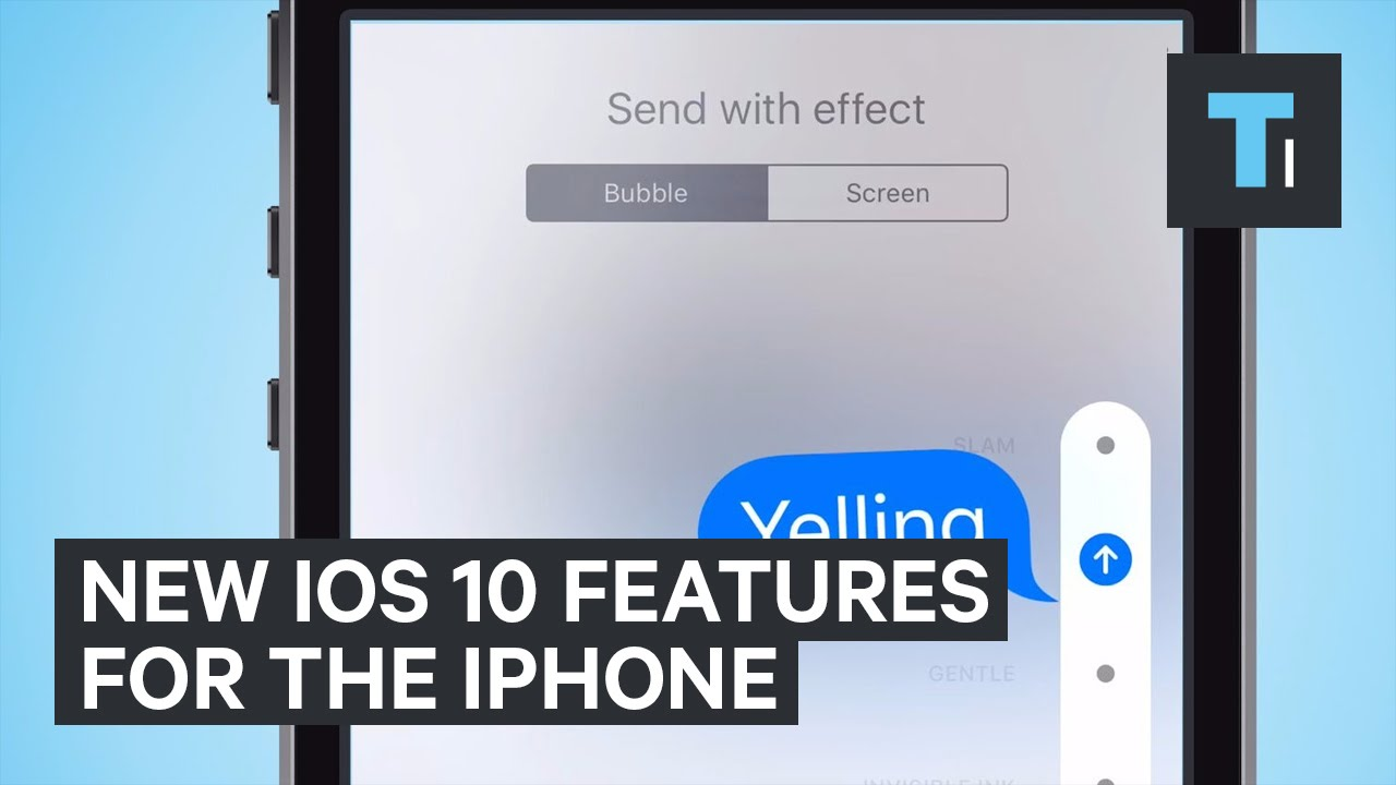 New iOS 10 features for the iPhone