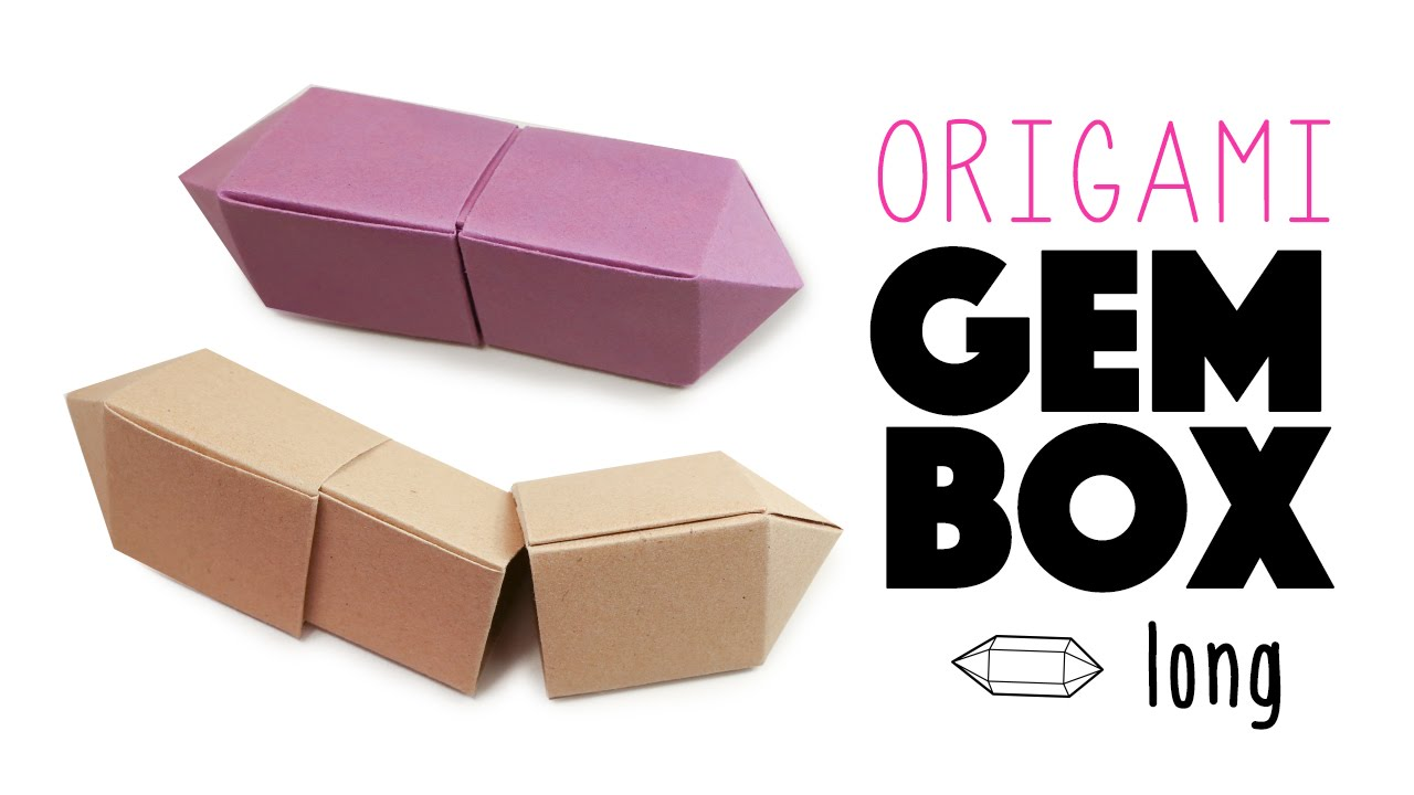 Origami Gem Box Long Version Instructions Tutorial