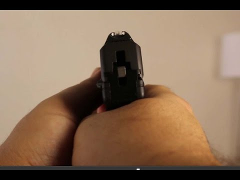 The proper way to aim and shoot a Ruger LC9 and other double action guns DAO