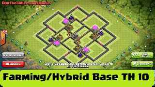 Farming/Hybrid Base TH10 || CLASH OF CLANS || 275 walls || after update december 2015