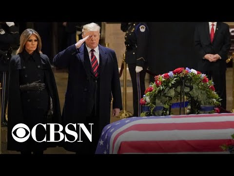 Thousands gather to remember former President George H.W. Bush