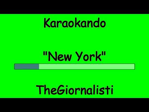 Karaoke Italiano - New York - TheGiornalisti ( Testo )