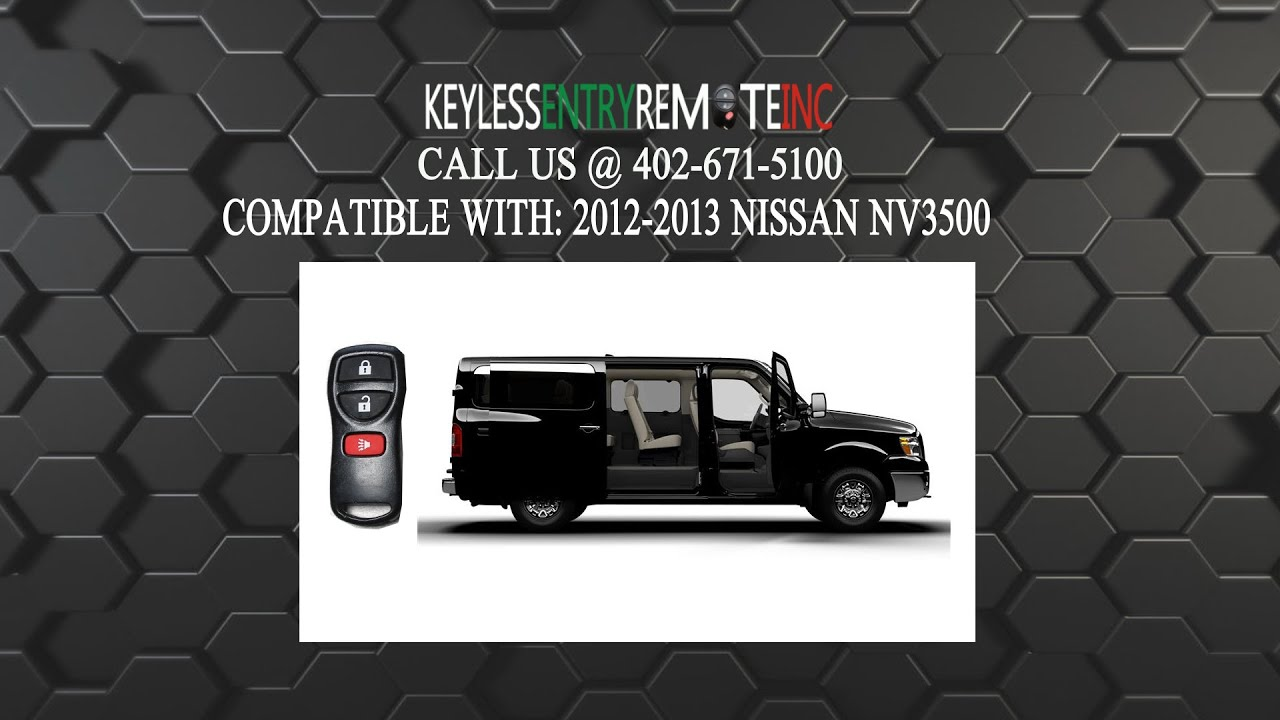 How To Replace Nissan NV3500 Key Fob Battery 2012 2013