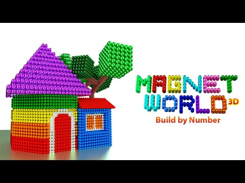 Magnet World 3D - Build by Number, Magnetic Balls thumb