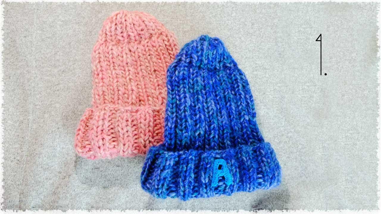 ニット帽子の編み方・作り方【100均毛糸3玉で】棒針/ゴム編み diy knit beanie hat tutorial , YouTube