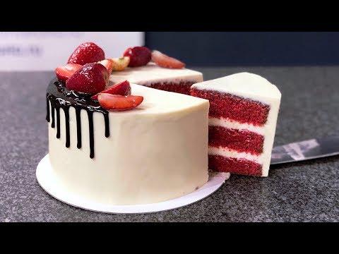 Торт красный бархат американский популярный десерт