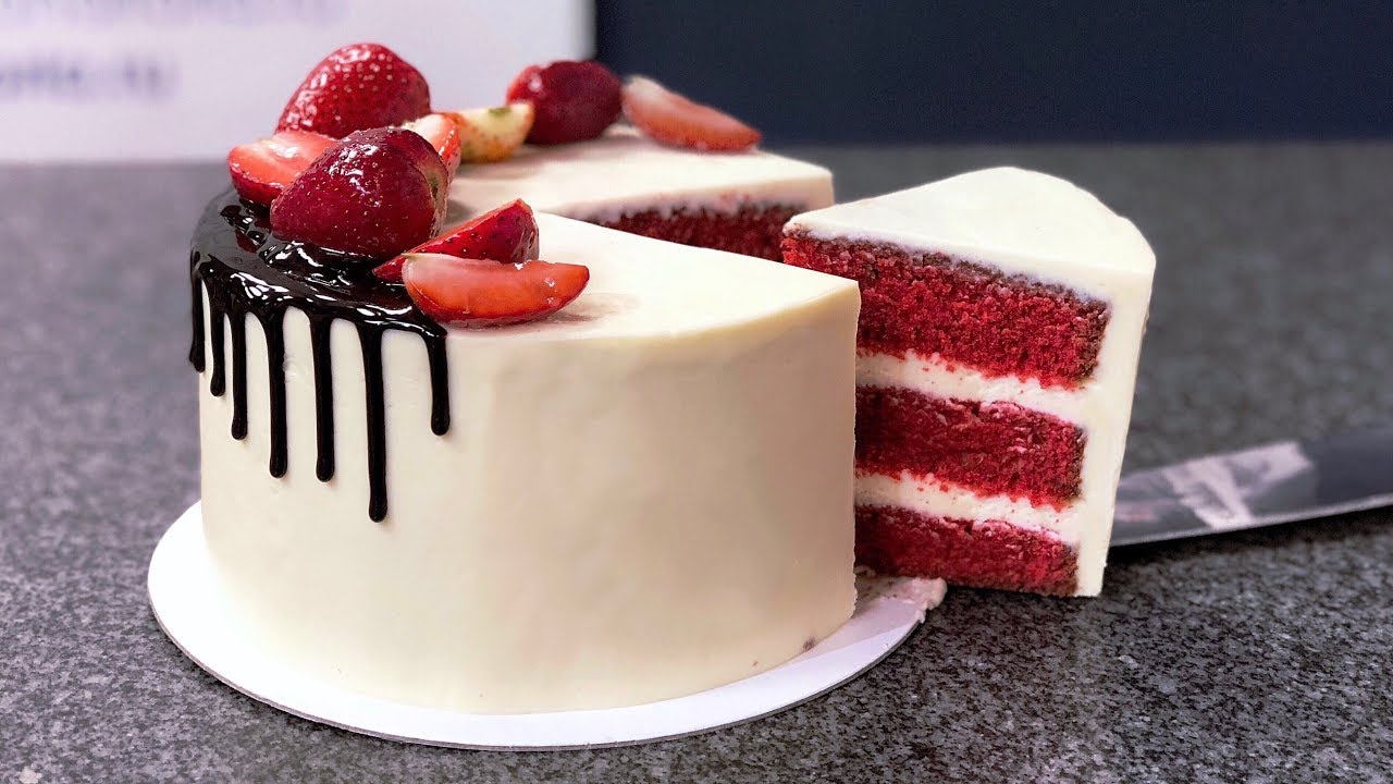 Торт красный бархат - YouTube
