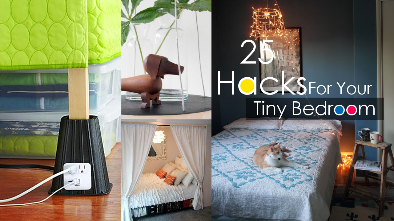 25 Tiny Bedroom Decor ideas - YouTube