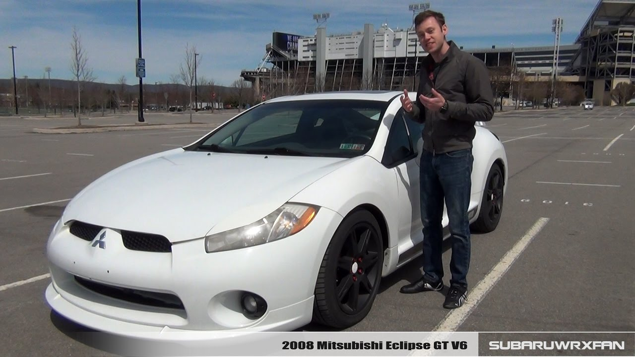 Review: 2008 Mitsubishi Eclipse GT V6 (Manual) - YouTube