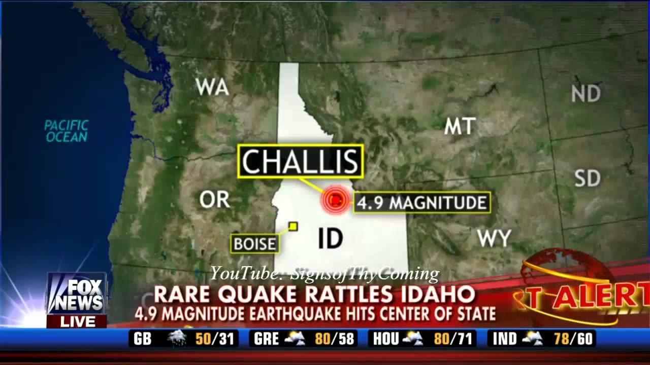 6.5 magnitude earthquake centered near Challis