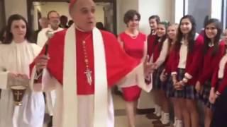 Daniel Cardinal DiNardo blesses IWA's campus addition