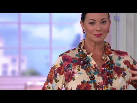 Linea By Louis Dell'Olio Floral Printed Blouse On QVC