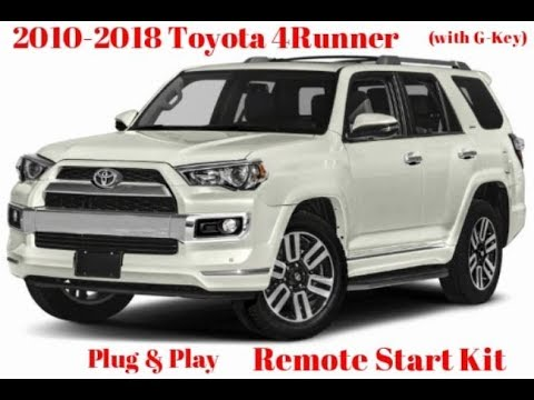 OLD VIDEO* 2010-2018 Toyota 4Runner Plug  Play Remote Start Kit (G