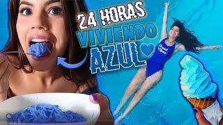24 HORAS COMIENDO Y VIVIENDO AZUL -  COMIDA por COLORES CHALLENGE + BROMA