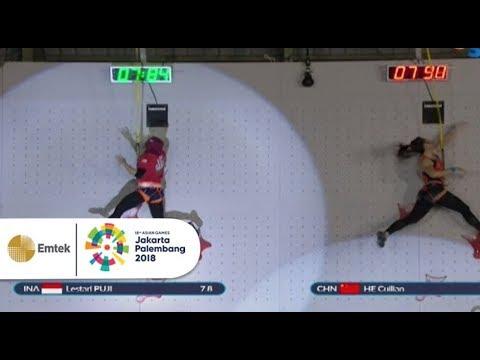 Cuplikan Pertandingan Panjat Tebing Putri | Gelora Asian Games 2018