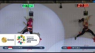 Cuplikan Pertandingan Panjat Tebing Putri Gelora Asian Games 2018