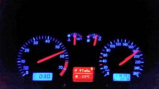VW Golf 4 1.6 16V Beschleunigung 0-200 und Vmax ;-)