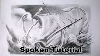 How to draw a ship - the KRAKEN / Graphite pencil