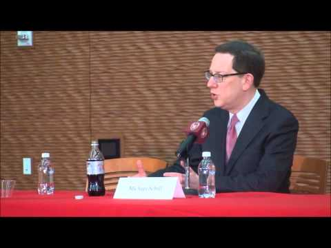 Chancellor Candidate Michael Schill- Press Conference 3/7/13